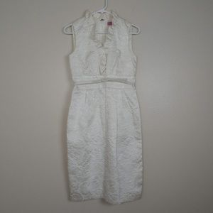 Eliza J White Sheath Dress Jacquard #37